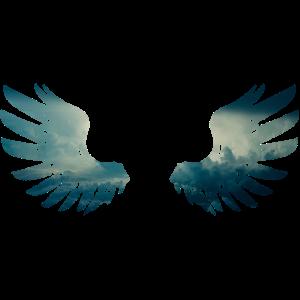 Engelsflügel aus Wolken Geschenk Geschenkidee