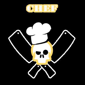 Totenschädel Chef Koch Geschenk Köchin Messer Food