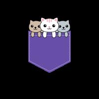 Katzen schauen aus der Tasche - Geschenkidee