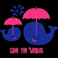 Rettet die Wale- Schützt die Wale- save the whales