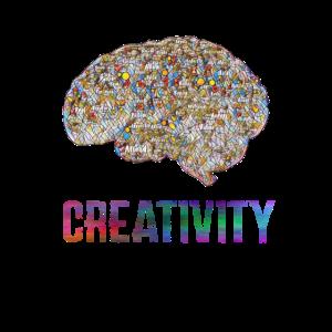 Kreativitaet Gehirn Motiv