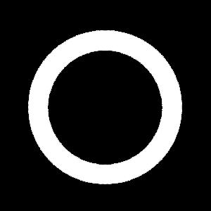Weisses cooles Party Ring Kreis Loch Geschenk