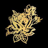 goldene blumen muster tshirt