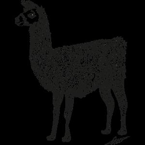 Lama-Gekritzel-Kunst