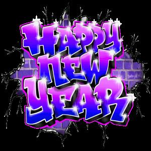 Frohes neues Jahr Graffiti