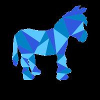 Esel Polygon Geometrie Tier Bunt