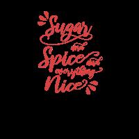 Zucker und Gewürze