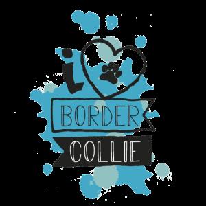 I LOVE BORDER COLLIE - BLAU