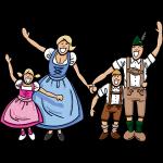 Fröhliche Oktoberfest Familie in Tracht