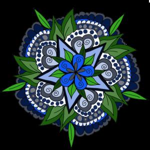 mandala blau Geschenk geschenkidee Blumen