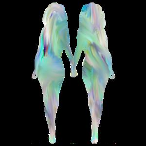 frauen halten hand gute figur silouette freundinne