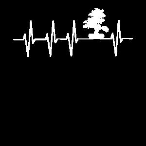 Japanischer Bonsai Baum Herzschlag EKG T-shirt
