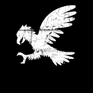 Adler Symbol Destroyed Look   Wappen Geschenk