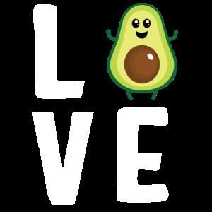 Avocado-Liebe - niedlich lustig
