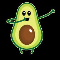 Tupfende Avocado