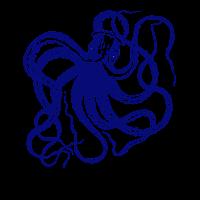 octopus tintenfisch retro maritim meer kapitän lol