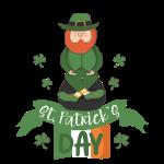 St. Patrick's Day Kobold, Pott voller Gold & Glück