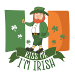 Küss mich, ich bin Ire - Glücklicher Kobold - Gold