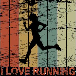 I love running retro - Laufen, Marathon