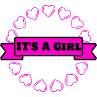 It's a Girl I Baby Shower Party Geschenk