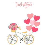 Valentine Bike Love -Valentinstag Fahrrad