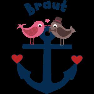 Braut - Anker Vogelpaar -