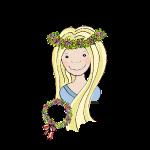 Mittelalter Blumenmädchen blond