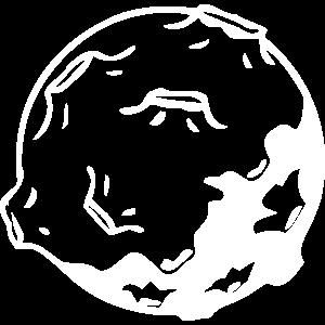 Mond mit Kratern, Asteroid - Design
