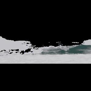 Surfer auf einer Welle