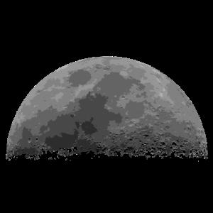 Grauer halber Mond in Grau
