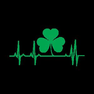 St. Patrick's Day Herz Puls