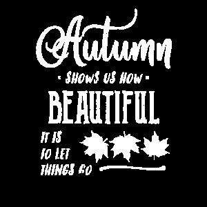 Beunruhigtes Herbst-Zitatprodukt mit weißem Text