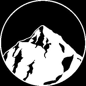 großer Berg im Kreis - Design