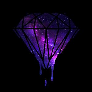 Diamant Weltraum galaxy geschenkidee