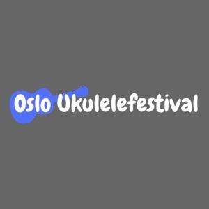 Oslo Ukulelefestival logo i hvitt og blått