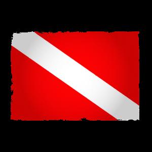Taucherflagge Tauchen Flagge Taucher Geschenk