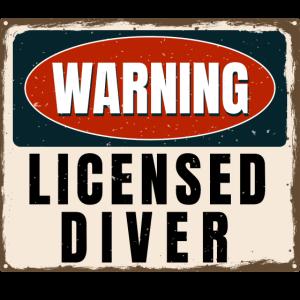 Tauchen Warnung Schild Lizenz Lustig Geschenk