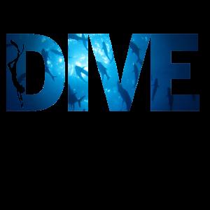 Tauchen Dive Unterwasser Fische Taucher Geschenk