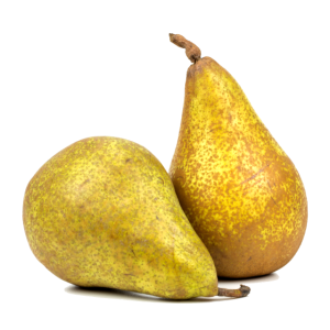 Birnen. Two pears.