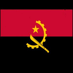 Angola Flagge Vintage-Effekt