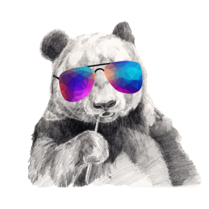 Cooler Panda Mit Sonnenbrille