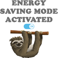 Faultier Energy Saving Mode Activated - Sloth Mode