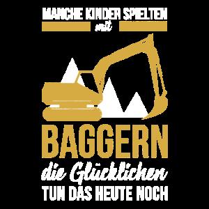 Bagger Baustelle Bauarbeiter Baggerfahrer Kindheit