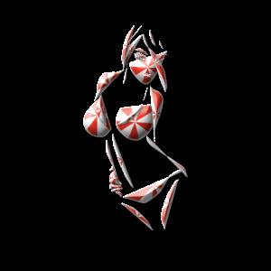 Sexy Bikini Bonbon Illustration Kunst Geschenk