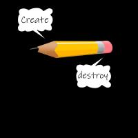 Der Zwei-in-Einem Bleistift
