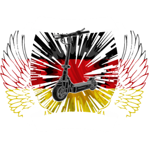 Escooter Elektroroller Wappen Germany