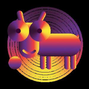 Weltraumhund Illustration