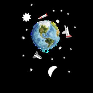 Astronaut Mond Schwerelos Weltraum Raumfahrt