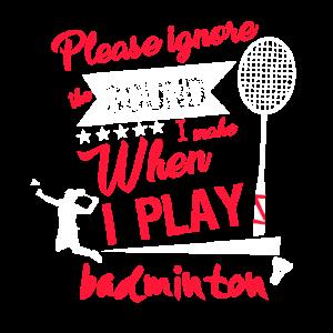 Lustiges Badminton Geschenk Frau Schläger Sport