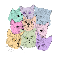 Pastel Cats